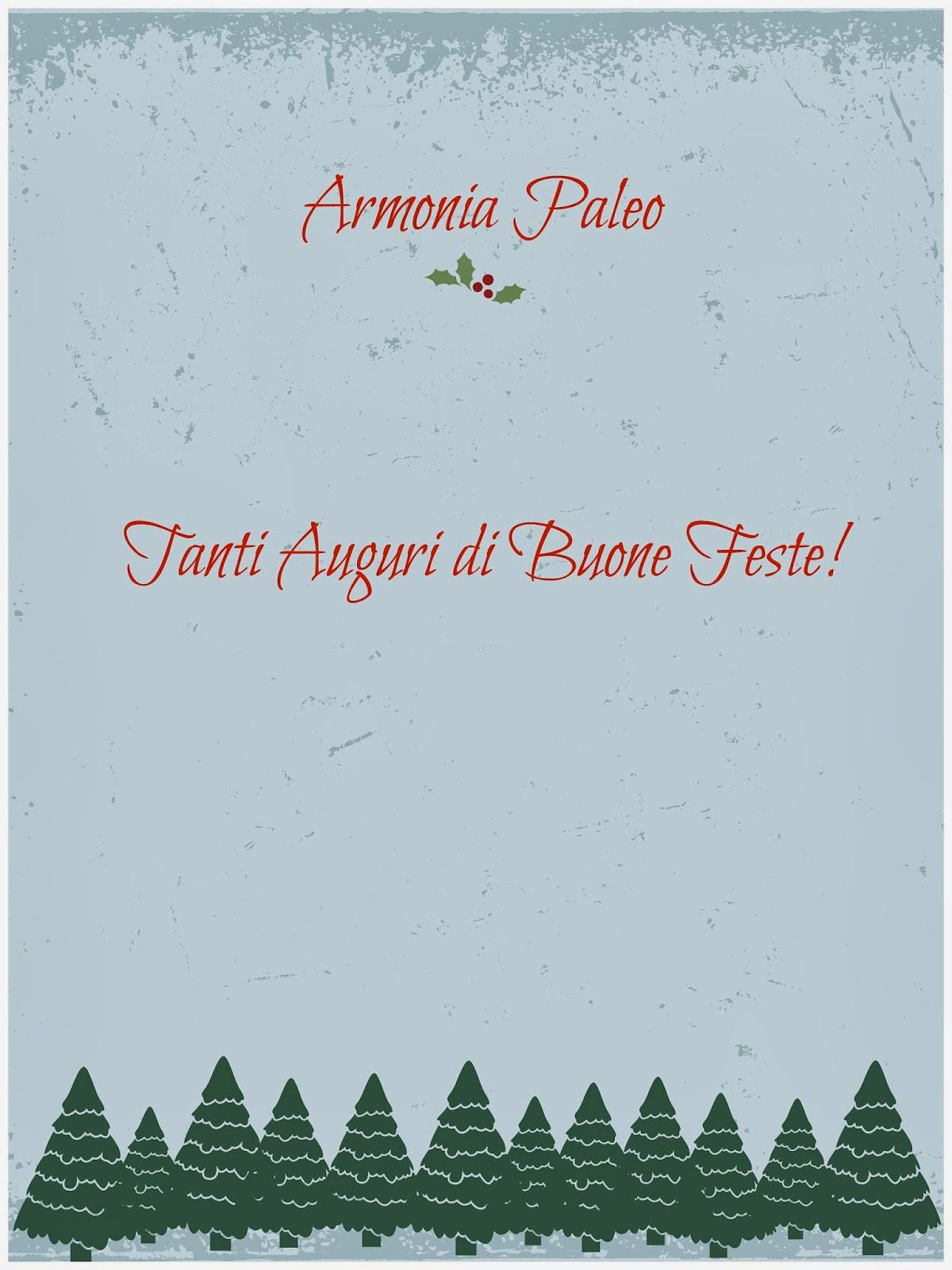 Auguri Buone Feste 2013 di Armonia Paleo