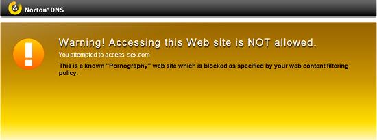 Trang web có nội dung sex bị chặn không cho truy cập