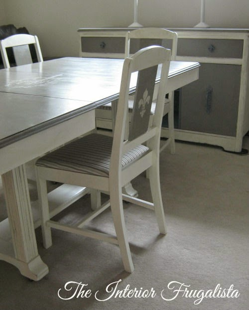 Vintage Dining Table with extension open