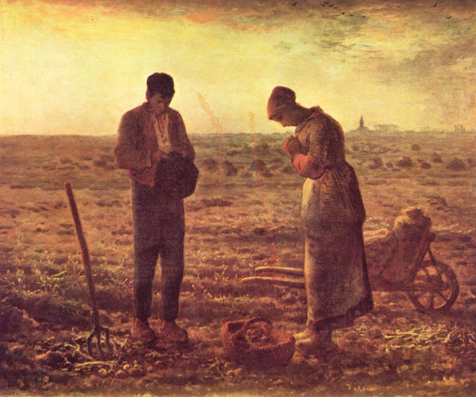 Risultati immagini per millet angelus e lavoro dei campi