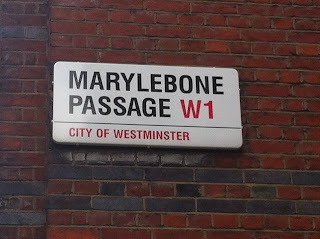 Street sign, Marylebone Passage, London W1