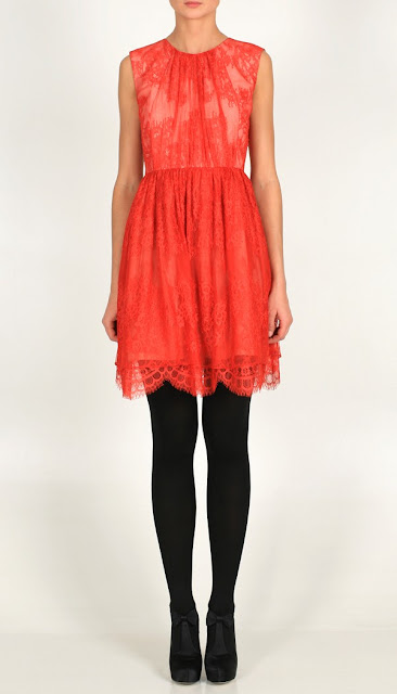 Tibi 39s exquisite Imperial Lace Boatneck Dress