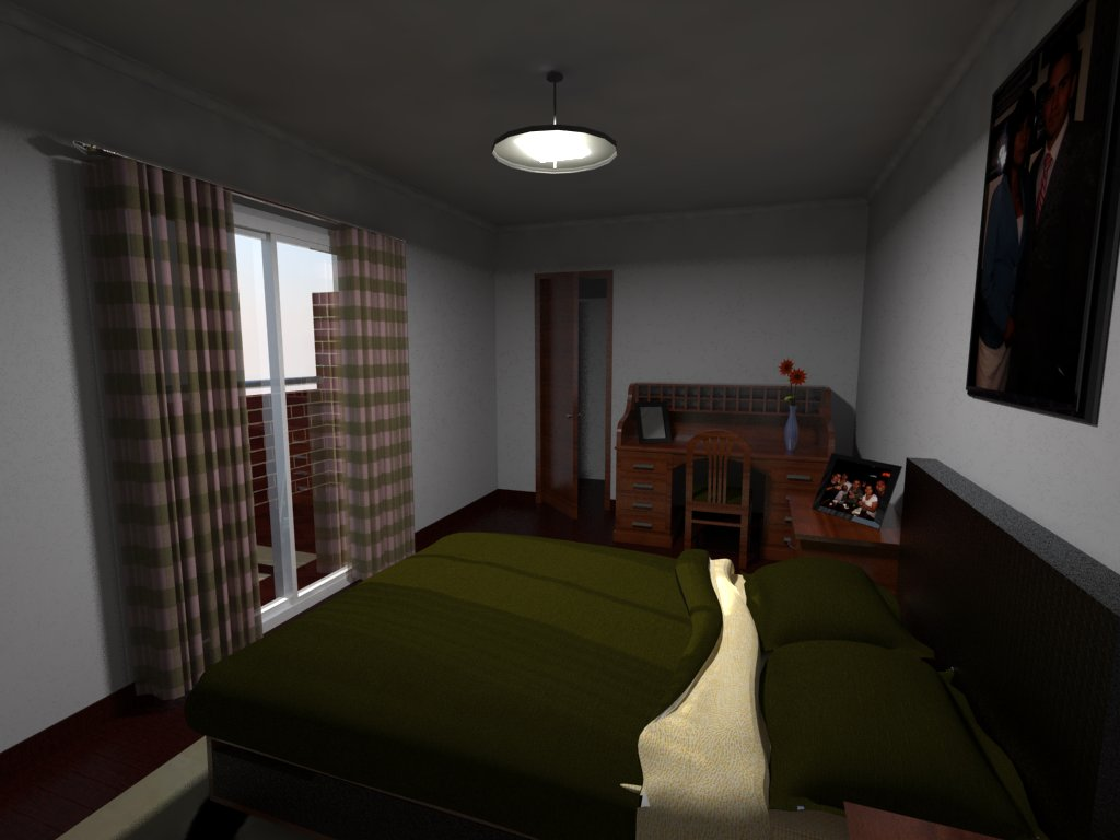 Animaci n dise o y render 3d dormitorio 1 dise o - Interiorismo dormitorios ...
