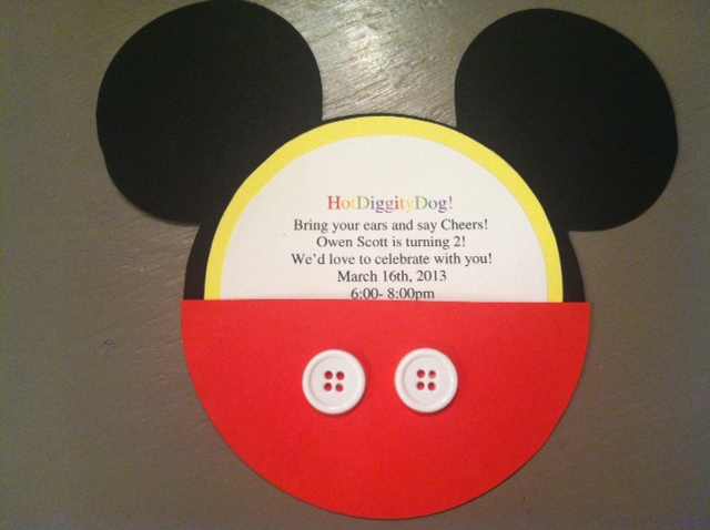 Pinterest and the Pauper DIY Mickey Mouse Invitations and party