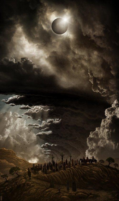 Jeffrey Smith deviantart ilustrações paisagens surreais