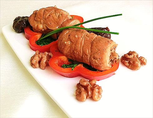 involtini di carne di suino con ripieno di funghi