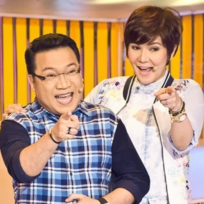 The Singing Bee hosts Kuya Dick and Amy