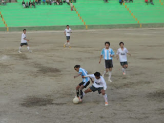 A glimpse of the quarterfinal match played in Jorethang on Sunday.