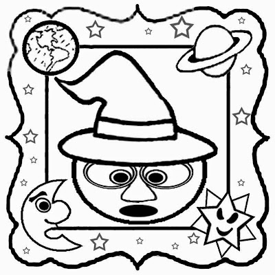 Free art cartoon magic moon sun planets and stars colouring pages print a coloring book for kids fun