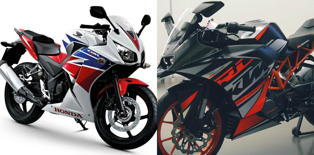 Two Best Sports Bike Comparision Honda CBR300R Vs KTM RC 390