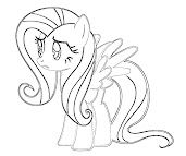 #14 Fluttershy Coloring Page