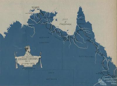 Ruta de la gran expedición de Leichhardt