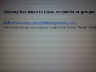 dwilkins@godaddy.com emailed police apparently for a threat complaint?