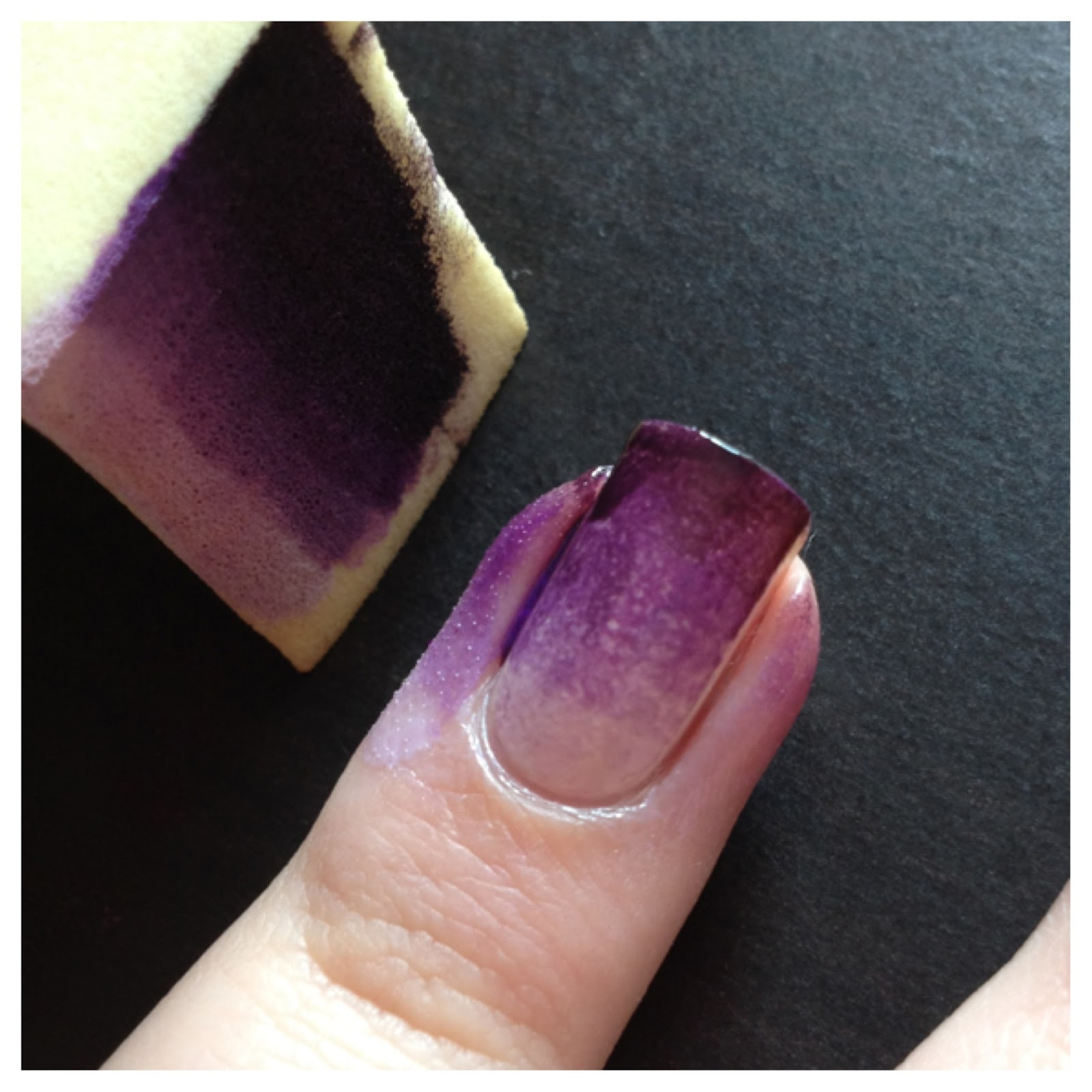 Aubrey Hannah: Purple Ombre Nails (Tutorial)