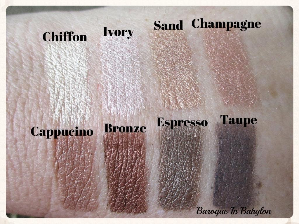 fc6770670a10f Ivory- pale pink toned white. Sand- caramel tan. Champagne- blush touched  camel. Cappuccino- warm light brown (which I ve spelled wrong in the  photos