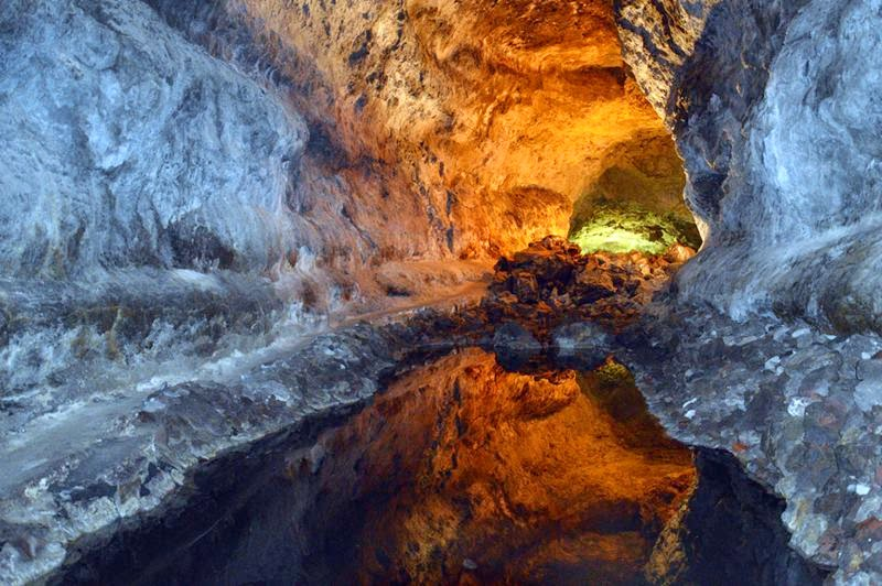 Volcano Tunnel, Cueva de los Verdes  Canary Islands of Lanzarote, Spain