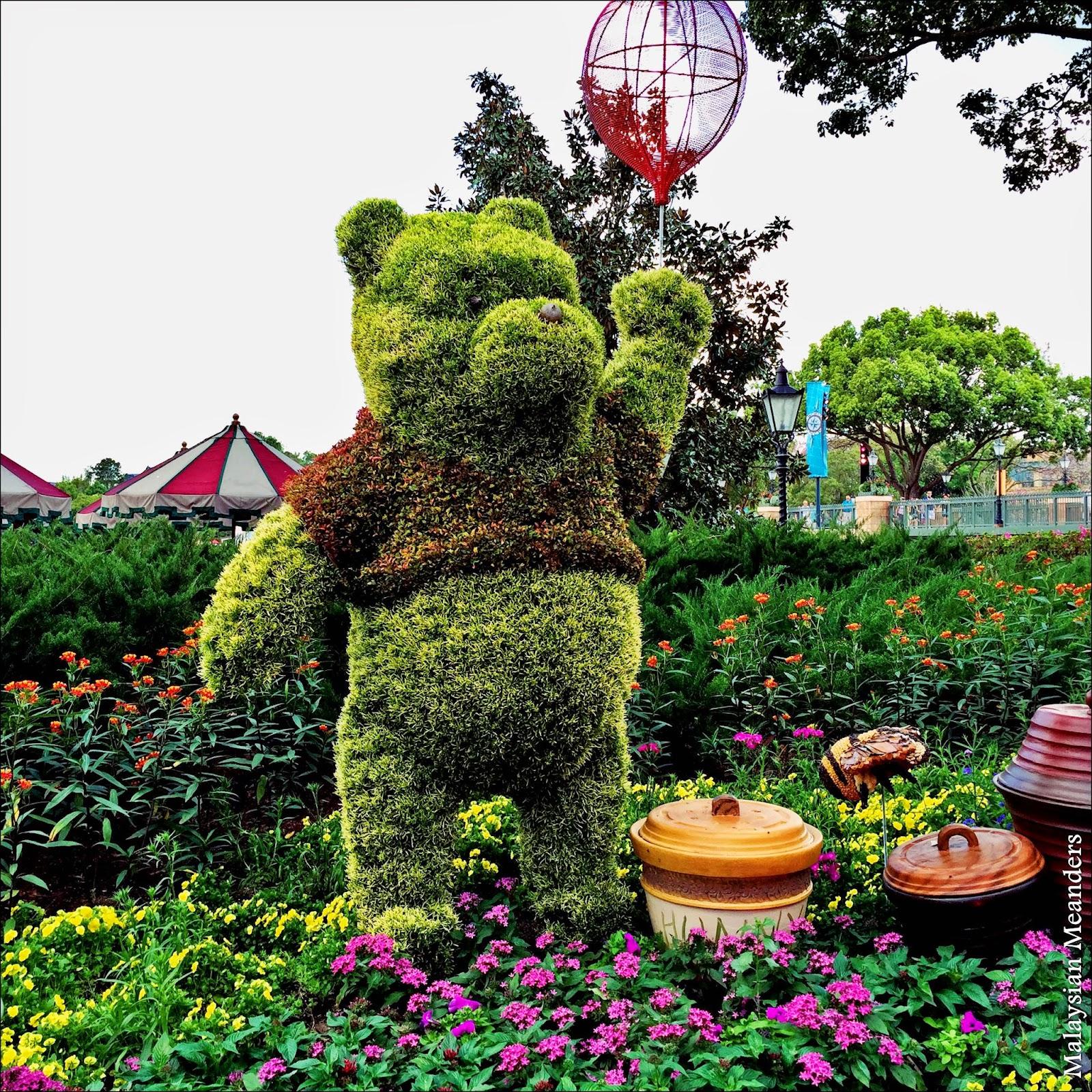 Winnie the Pooh, topiary, DisneyWorld