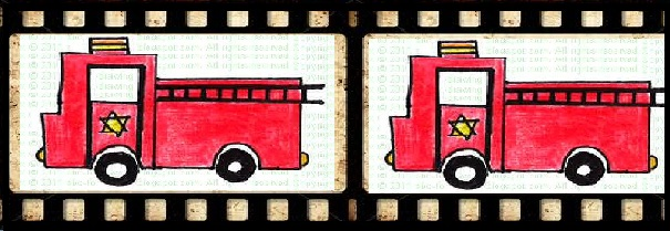 abc to drawing fire truck