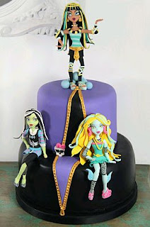Tortas de Monster High para Fiestas Infantiles