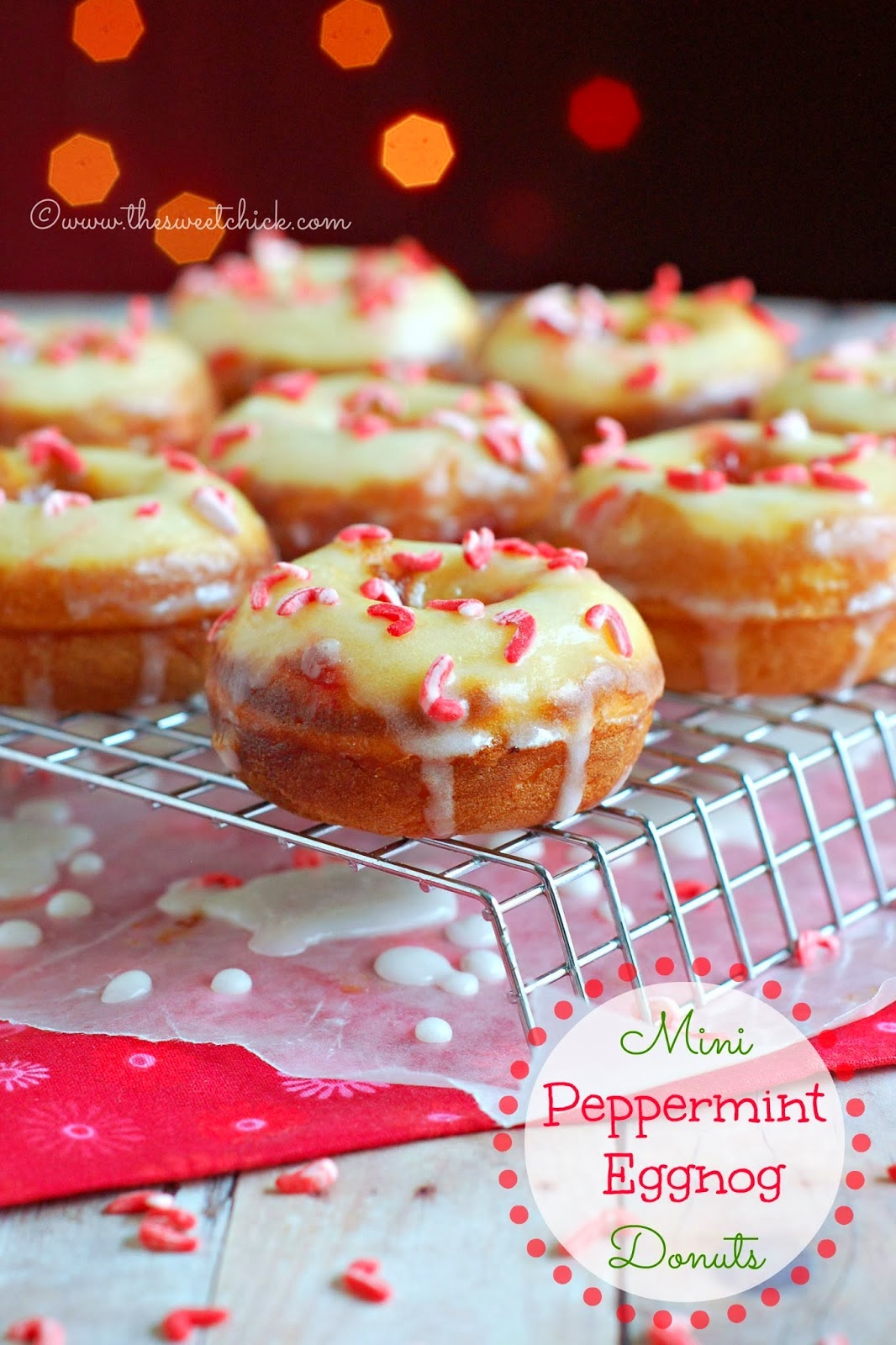 http://www.thesweetchick.com/2013/12/mini-peppermint-eggnog-donuts.html