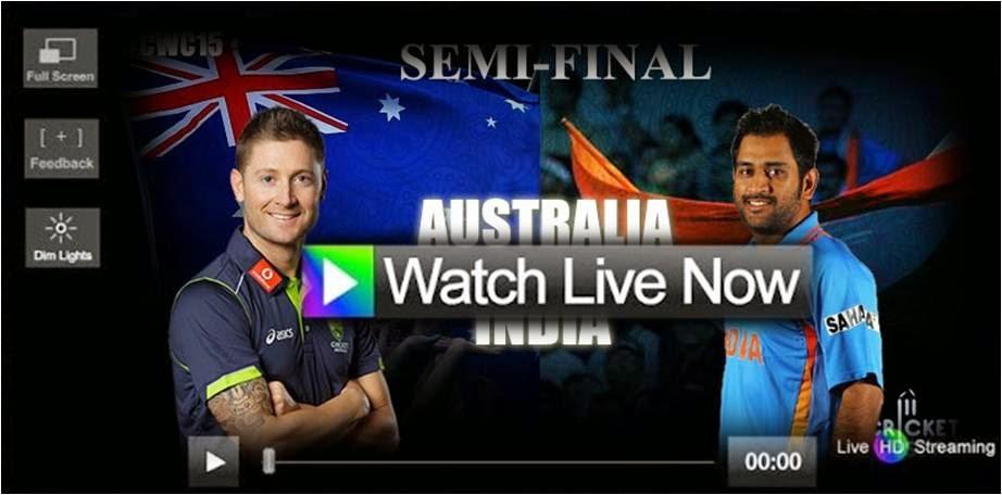 India vs Austrlia icc cwc 2015 live stream