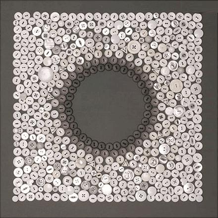 Pandas candles button art - Cuadros con botones ...