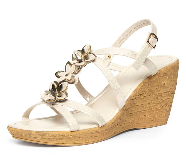 Dorothy Perkins Gold Multi Flower Strap Wedge