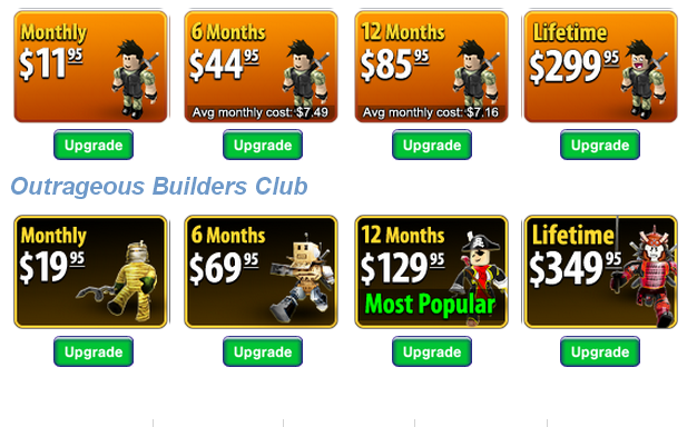 Roblox Moc Prices For Tbc And Obc