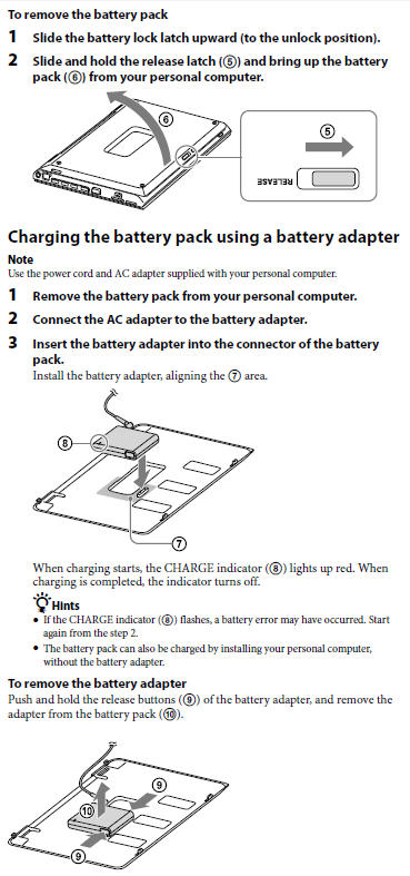 digital qa sony vaio extended sheet battery vgp bpsc24 Repair Manuals Automobile Owners Manual