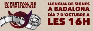 IV FESTIVAL DE CORTOMETRAJES EN LS DE BADALONA