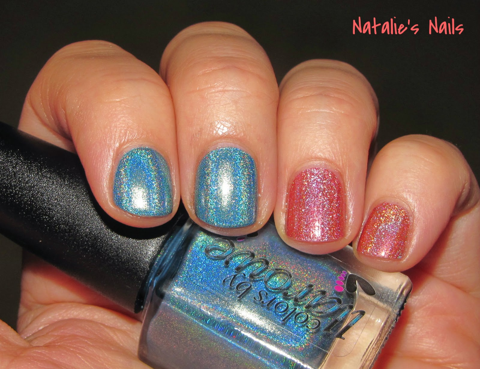 Natalie\'s Nails: Colors by Llarowe Rapture and China Glaze holos