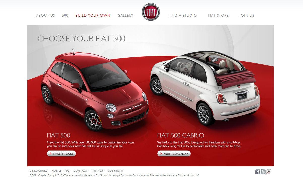 Fiat USA Launches New Website Fiat USA - Fiat 500 website