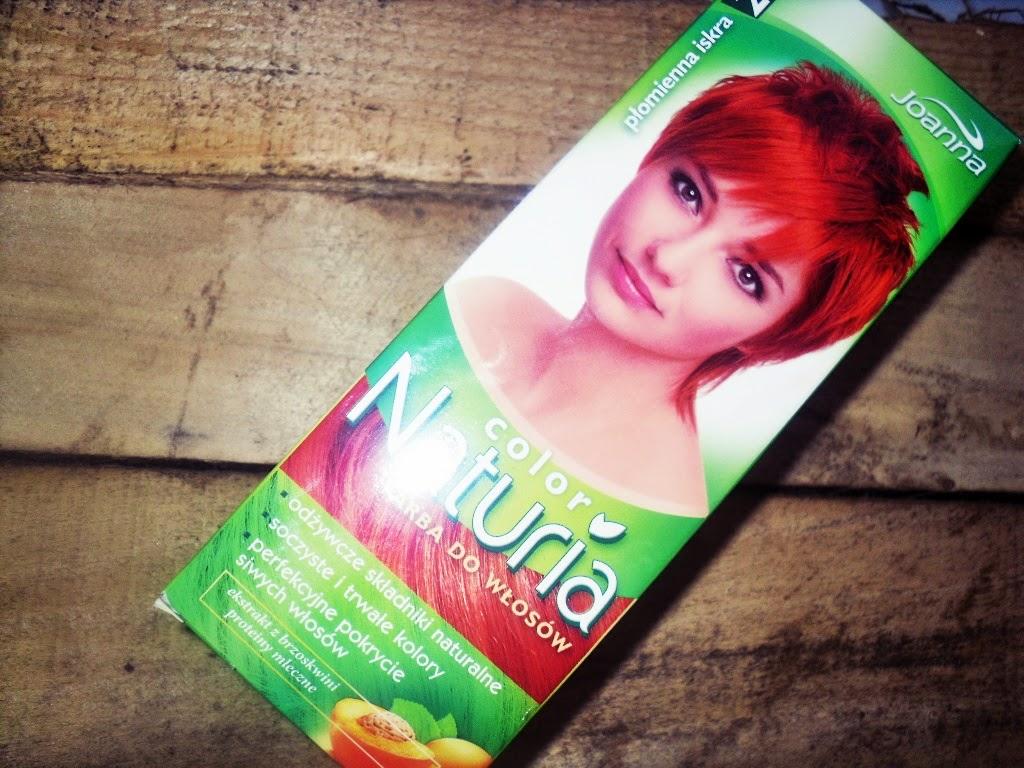 Koloryzacja włosów farbą Joanna color Naturia 220 płomienna iskra