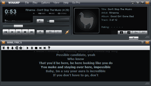 download winamp lyrics: