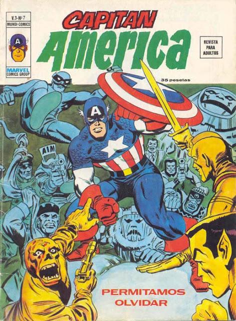 Portada de Capitán América Volumen 3 Nº 7 Ediciones Vértice
