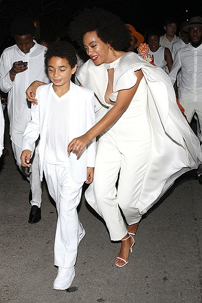 Solange with her son in  wedding Solange Knowles and Alan Ferguson