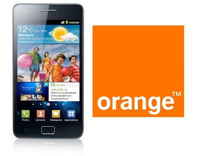 UK Orange  Samsung Galaxy S2 Official Android 4.0.3 Ice Cream Sandwich (I9100LKAORA)