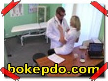 Naughty blonde nurse gets doctors full attention