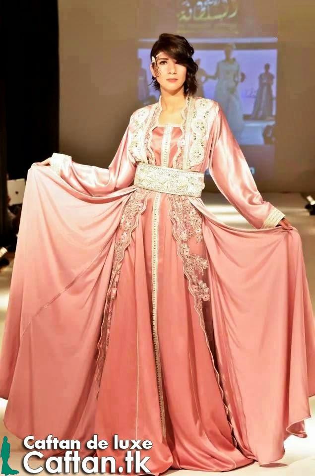 Caftan 2014 | robe de soirée rose claire