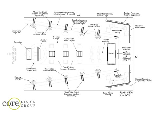 Core design group blog the freelance exhibit design blog for Trade show floor plan design