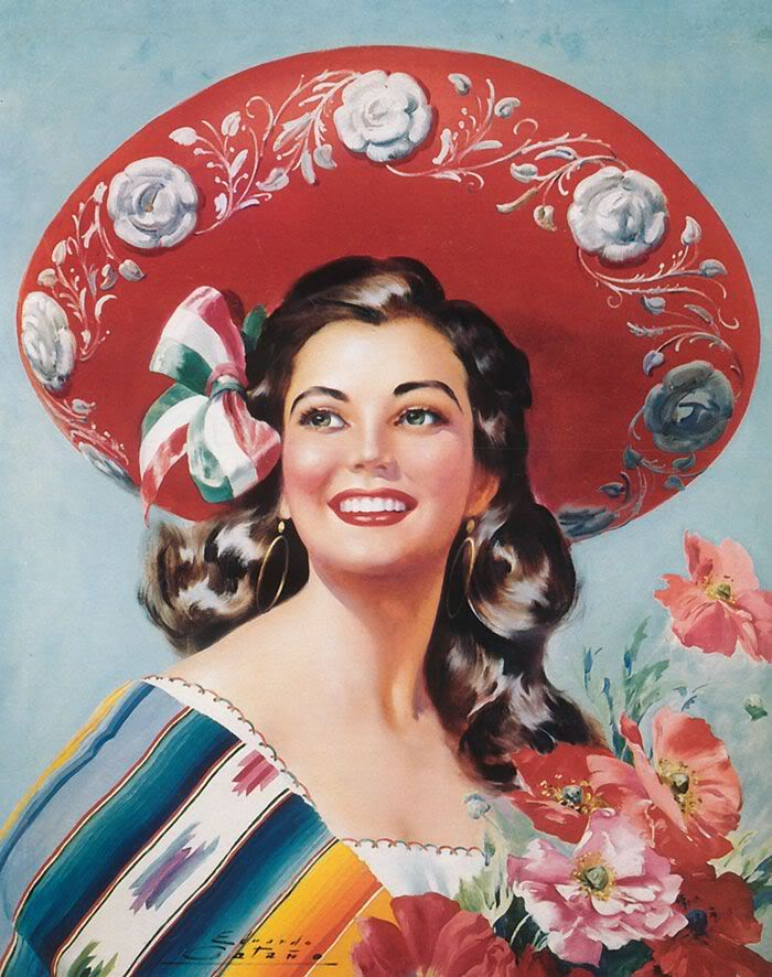 Mexican Calendar Girl Art : Chiaki s world the fashion pin up