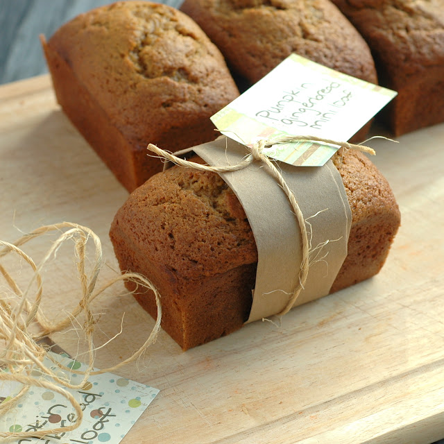 Pumpkin Gingerbread Mini Loaves