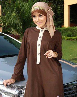 Zenitha Koleksi Busana Muslim Ukuran Big Size coklat tua muda