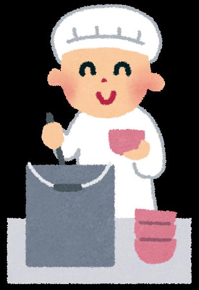 鍋からお椀に給食を分けている ... : 七夕 短冊 無料 : 七夕
