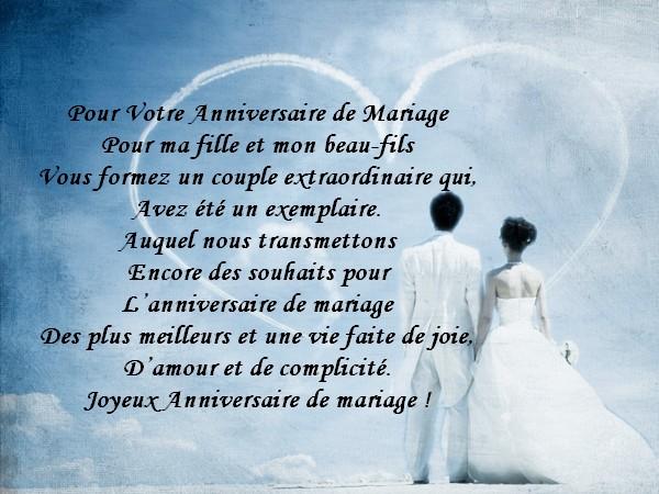 pome pour anniversaire de mariage - Message Felicitations Mariage