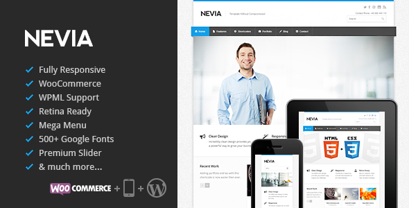 Nevia v1.3.3 - Responsive Multi-Purpose WordPress Theme