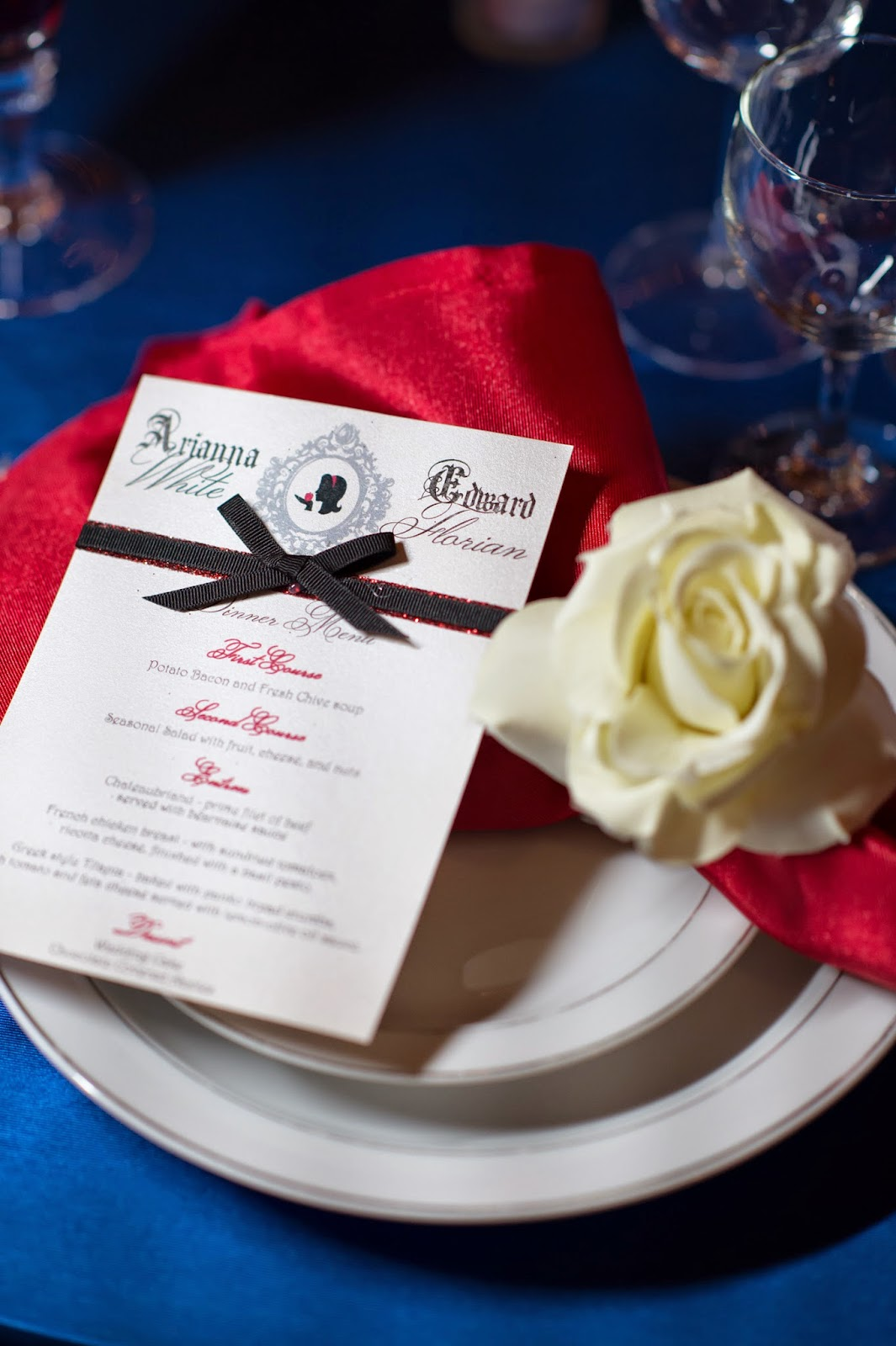 Fantastic Blue White Wedding Invitations Pattern - Invitations and ...