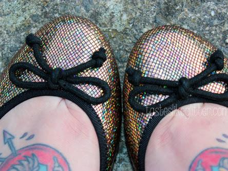 ASOS Lucy Gold Ballet Flats.