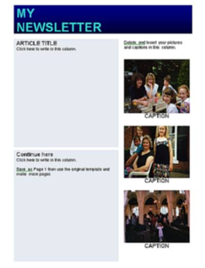 How to write a newsletter template