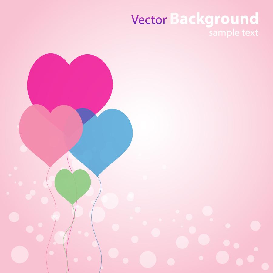 淡い色のハートを重ねた背景 hearts abstract valentine romantic wallpaper イラスト素材